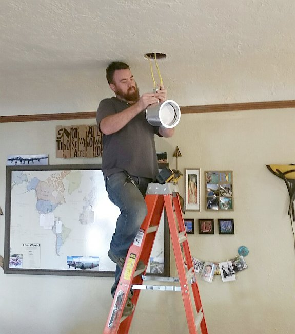 light fixture installation